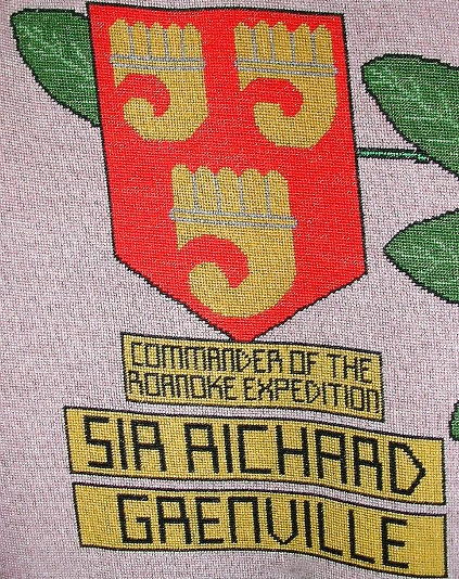 tapestry photo 1585 sir richard grenville shield