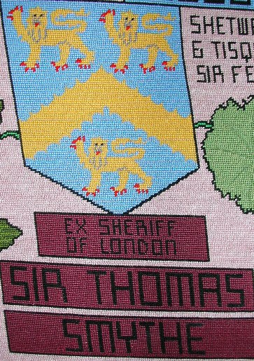 tapestry photo 1605 sir thomas smythe shield