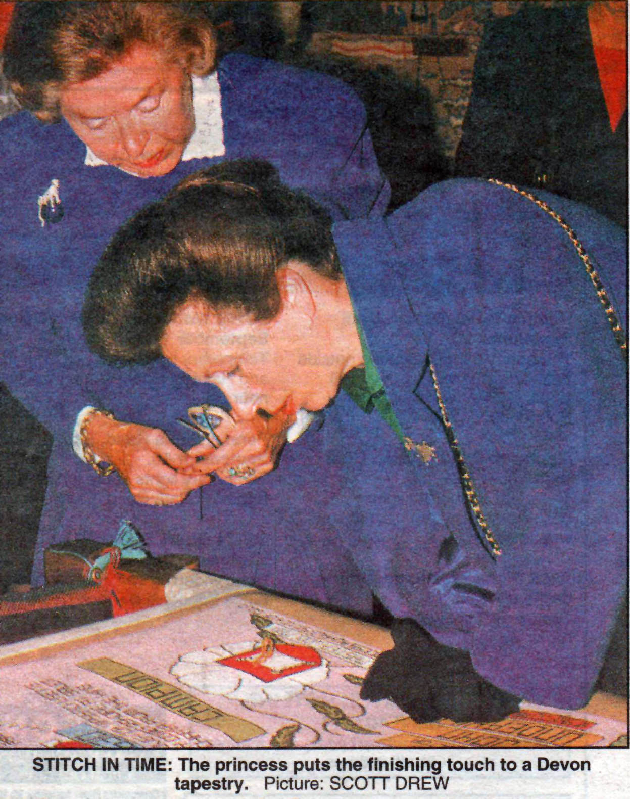 Sept 1994 - Princess Royal's Stitch in the 1630 Panel