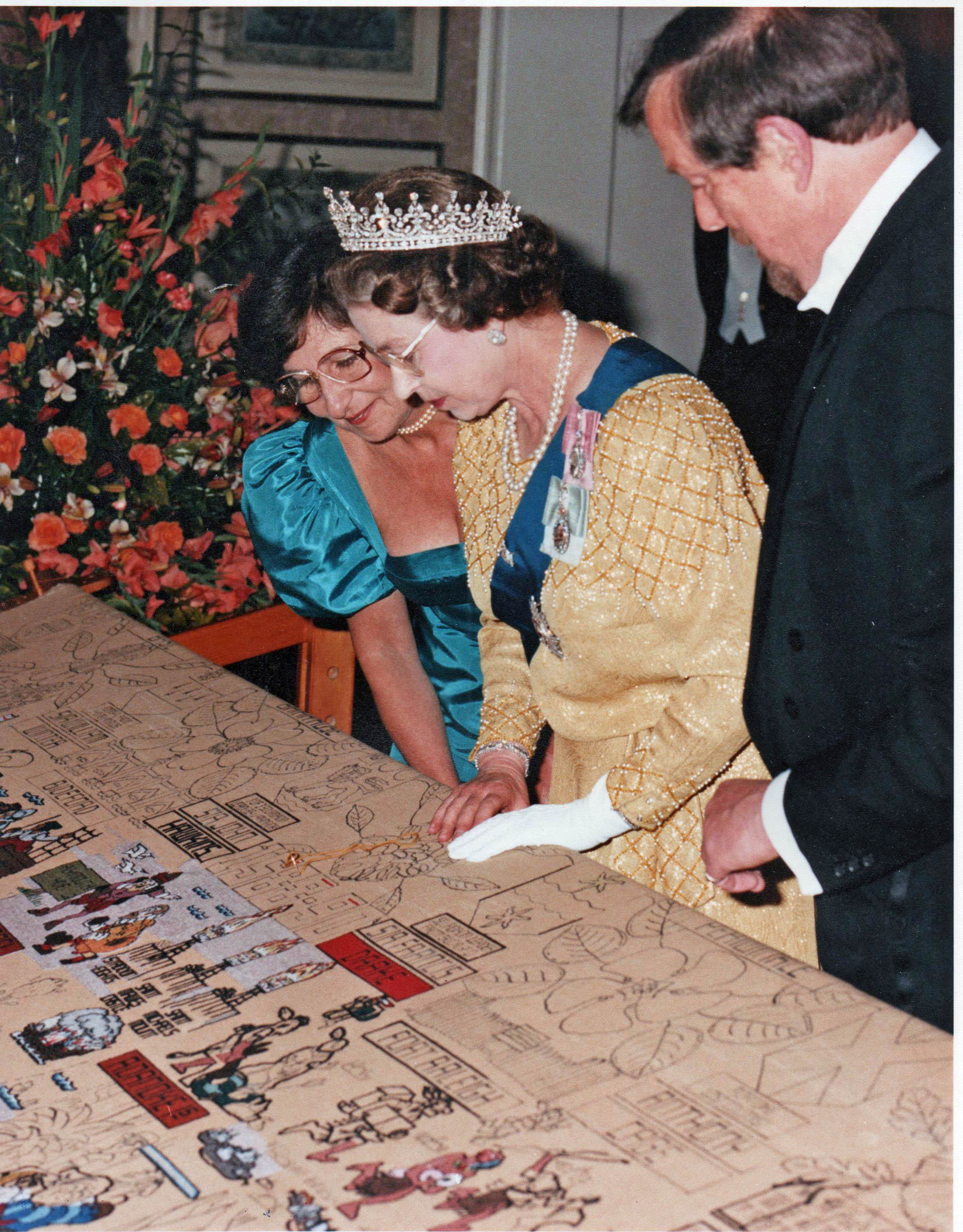 Jul 1988 - HRH Queen's Stitch Devonport